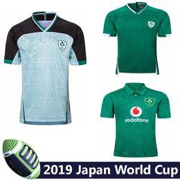 trajes de polo Rebajas De primera calidad 19 20 jerseys de rugby irlandés Irlanda Copa del Mundo de Rugby hogar lejos formación jersey de la camisa del juego del POLO