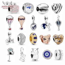 perlas de globos Rebajas 2019 Colección de verano Globos de aire caliente Encantos de viaje Plata de ley 925 Avión de hélice Colgante encanto Cuentas de mono pulsera apta Joyería de bricolaje