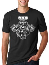2019 moteur à piston libre Moteur de voiture T-shirt américain Muscle Car Pistons Tee Shirt Gift FOrFunny livraison gratuite Unisexe Casual top promotion moteur à piston libre