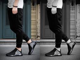 2019 loafers casuais tecem Homens Sapatos de Mão-Tecidos Sapatos Baixos Moda Apartamentos 2017 Mocassins Casuais Deslizamento Em Loafers Respirável Almofada de Ar Solas Sapatos Casuais desconto loafers casuais tecem