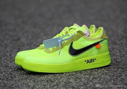2020 chaussures hautes pour la mode Nike Air Force 1 off white Flyknit Utility chaussures de luxe Un hommes femmes Flyline Sports Skateboarding Chaussures High Low Cut Blanc Noir En Plein Air Baskets Sneaker promotion chaussures hautes pour la mode