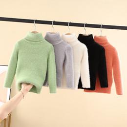modelos de camisas coreanas Desconto modelos de inverno novo crianças coreanas 6 cor vison camisola camisa assentamento