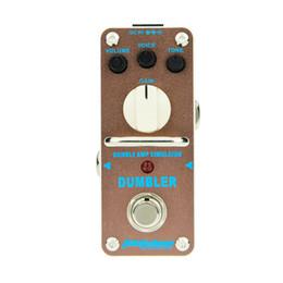 mini guitarra de efectos Rebajas AROMA ADR-3 Pedal de efecto de guitarra Dumbler Amp Simulator Mini Pedal de efecto de guitarra eléctrica individual con True Bypass
