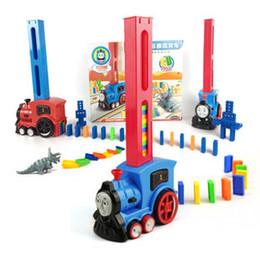 Licenza giocattolo online-Domino trasparente domino puzzle bambini licenza automatica licenze di treno elettrico tremble giocattoli all'ingrosso