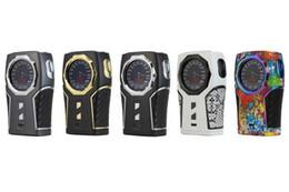 Батареи сигели онлайн-100% оригинал Sigelei TOP1 230 Вт TC Box Mod Dual 18650 Батарея мод с 1,3-дюймовым TFT круговым экраном для распылителя 510 потока DHL бесплатно