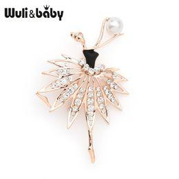 broche de dança Desconto Wulibaby Ginástica Broches de Menina de Dança Dos Homens Das Mulheres Uniformes Esportes Broche de Pinos Profissionais