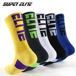 Ragazzi calzini atletici online-Commercio all'ingrosso spessore protettivo Sport Asciugamano cuscino Elite Crew pallacanestro calzini atletici per il ragazzo Ragazze Uomini Donne