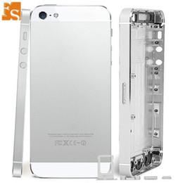 caso medio di iphone 5s Sconti Completa l'abitazione del iPhone di Apple 5 5S SE Back Door Battery Cover posteriore Custodia Medio telaio con cavo della flessione parti di ricambio