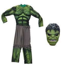 ostumes Accesorios Disfraces de Cosplay Superhéroes Vengadores año nuevo navidad carnaval verde el increíble disfraz de Hulk músculo para niños k ... desde fabricantes