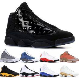 Canada Jordan Nouveau 13 13s Hommes Chaussures de Basket Designer Designer Italie Bleu classe melo de 2003 Pure Money Black Cat élevé Flint baskets taille 7-13 cheap class arts Offre