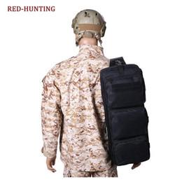 Airsoft fällen online-24 '' Gun Bag Tactical Airsoft Schulter mit Doppelgewehrkoffer Schwarz Military Jagdgewehr Gear Bag # 562923