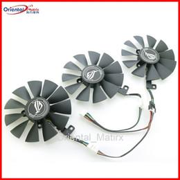 Ventiladores asus de enfriamiento online-Nuevo 87mm PLD09210S12HH PLD09210M12HH Ventilador de refrigeración Reemplazar para ASUS Strix GTX1060 OC 1070 1080 GTX 1080Ti RX 480 Ventilador de tarjeta gráfica