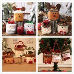 Maçãs doces para on-line-Saco do presente de Natal com cordão Bag Crianças Doces Sacos Xmas Tree Christmas Eve a Apple saco pendurado Decoração de Natal Ornamento Para Partido Weeding