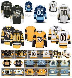 logotipo do pinguim Desconto Personalizado Homens Pittsburgh Penguins Jerseys Personalizado Costurado Qualquer Nome Qualquer Número Do Vintage Hóquei No Gelo Jersey Bordados Logotipos Tamanho S-XXXL