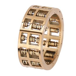 abacus gifts Promo Codes - Abacus Ring For Men Math Number Jewelry Stainless Steel Charm Rings Gifts