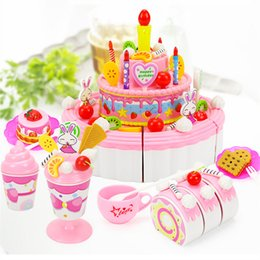 boys toy kitchens Coupons - Kitchen 103Pcs ABS Plastic Cake Toys Children's Classic Kitchen Toys 6 Different Types Pink blue Boys And Girls Birthday Christmas Gifts