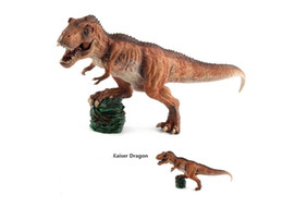 2019 micro bloques de construcción Nueva Venta Caliente Plástico Jurásico Período Tyrannosaurus Rex Modelo Simulación Dinosaurio Juguetes Muñecas