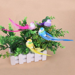 jardim de penas Desconto 4 pcs Simulação Artificial 3D Foam Feather Bird Diy Partido Artesanato Ornamento Adereços Para Casa Decoração Do Jardim Decoração Do Casamento C19041501