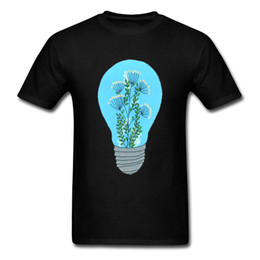 Canada T-shirt Casual T-shirt Terrarium éternel Hommes Noir T-shirts Blue Bulb Top Imprimé Tee Vêtements Funky Streetwear Drop Shipping cheap eternal blue Offre