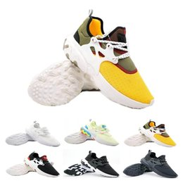 shoes flat feet men Promo Codes - 2019 Presto Mid Epic React Men Women Running Shoes Comfortable Foot Feel Mesh Breathable Sneakers Black White Casual Shoes