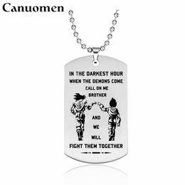 Canuomen Dragon Ball Anhänger Halskette Kampf ihnen zusammen Edelstahl Halskette Geschenke für Freunde Bruder pingente masculino von Fabrikanten