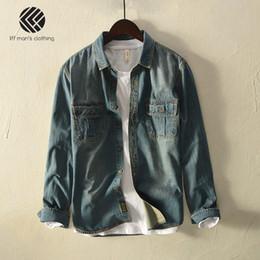024731cb356 Spring And Autumn Men Fashion Brand Japan Korea Style Vintage Denim Long  Sleeve Cotton Shirt Male Casual Slim Fit Thin Shirts