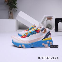 zapatillas azul bebé Rebajas Marca React Element 87 Baby Sneakers 2019 Zapatillas de deporte para niños Multicolor Rojo Azul Gris Zapatillas de running Big Boys Girls Zapatos para niños Talla 28-35