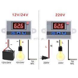 Led régulateur de température en Ligne-Régulateur de thermostat du régulateur de température 10A LED du contrôleur de température 12V 24V 220V W3002 Digital