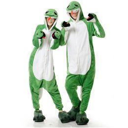 lindos trajes de kigurumi Rebajas Adultos Anime Serpiente Verde Kigurumi Onesies Disfraz Para Hombres de Las Mujeres Divertido Cálido Suave Animal Lindo Onepieces Pijamas Ropa de Casa Inicio