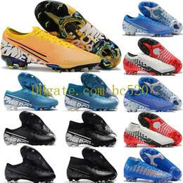 Sapatos de futebol de vapores on-line-Nova Chegada 2019 Mens Mercury Vapores Fúria XIII Elite FG Futebol Sapatos Neymar CR7 ACC Mosca de malha 360 Botas de Futebol Superfly VII Botas 39-45