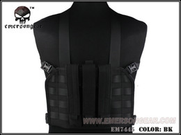 Argentina EMERSON MP7 Tactical Chest Rig Chaleco táctico Airsoft Paintball Military Army Combat Gear Negro EM7445 # 348676 supplier airsoft black vest Suministro