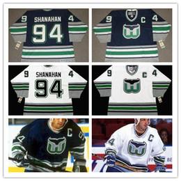 2019 eishockey-trikots Retro # 94 BRENDAN SHANAHAN Hartford Whalers 1995 CCM Vintage Eishockey genäht Herren Jersey Nostalgie Hockey Jerseys günstig eishockey-trikots