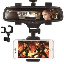 данные автомобили Скидка Adjustable Car Rearview Mirror Mount Mobile Phone Holder Stand Universal Navigation Support Automobile Data Recorder Bracket GPS