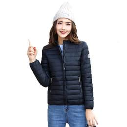 2019 parka de inverno verde feminino 2019 Brasão New Mulheres Moda Jacket Feminino Casacos Mulheres Parka Curto Inverno Mulheres algodão Revestimentos Mulher Lady Roupa T190830