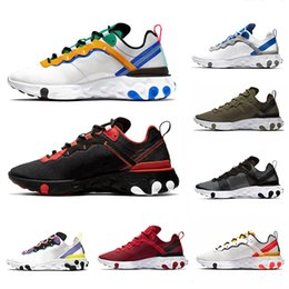 B online-React 55 Nike react 87 Light Orewood Brown Undercover X React Element 87 Mens Running Shoes for Men Women Red Orbit Orange Peel Black white Trainer Sports Sneakers