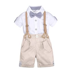 Der Junge Kleid Set Kleidung für kleine Jungen Sommer-Kit für Kinder Shorts Shirt 1 bis 4 Jahre alt Baby-Kleidung passt formelle Hochzeitskostüm von Fabrikanten