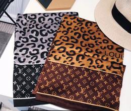 sciarpe di seta arcobaleno Sconti fashion 100% Silk Scarf Designer di lusso Womens rainbow grid brands Sciarpa Elegante da donna Avvolge sciarpe lunghe 180x90cm