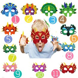 nette karikaturgesichtsmasken Rabatt Dinosaurier-Party-Cartoon-Masken niedlichen Tier dekorative Party-Zubehör bevorzugt Gesichtsmaske für Motto Party Maskerade Halloween Kinder