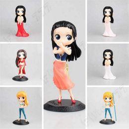 uma peça figuras boa Desconto QPosket One Piece Nami Boa Hancock PVC Action Figure Collectible Modelo Toy QPosket Boneca Crianças brinquedos
