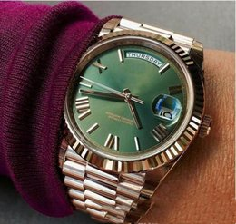 rose time Coupons - top quality Mens Watch Sweep Automatic Movement Mechanical Day-Date Rose Gold Stainess Steel Sapphire Glass Original Clasp Men Watches