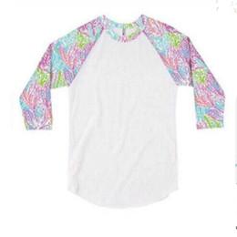 Canada Femmes Lily Tank T-shirt Trois-quarts Manche Patchwork Blouse Col Rond Pull Printemps T-shirt Sweat Chemises Tops 60PCS AAA1858 Offre