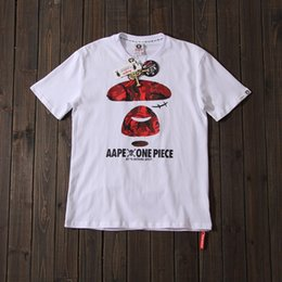 fbe1391c 2019 new spring summer Fashion AAPExBape t-shirt Colorblock ape Printed  Loose Casual T Shirt for Men and Women couple t-shirt discount ape