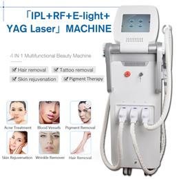 Láser elight rf ipl yag online-Elight OPT SHRRFNd Yag láser OPT SHR IPL láser depilación clínica belleza máquina Q Switch ndyag láser negro equipo de la muñeca