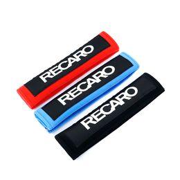Гоночные автомобили онлайн-1 пара JDM Recaro красный/черный хлопок авто ремень безопасности крышка плечевой ремень колодки для Honda гоночный автомобиль ремень безопасности