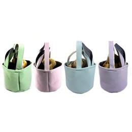 Seau de corde en Ligne-Panier de Pâques oeuf Skep sac de seau de réticule d'enfant pliable sacs de sacs de fil de bulle de fil de bulle de magasinage écologique portant la corde 12czC1