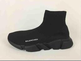 zapatos casuales más populares Rebajas Zapatillas de deporte de alta gama con diseño de zapatillas deportivas deportivas negras más populares del año Zapatillas de deporte de punto elástico Speed suela blanca texturizada Hombres Mujeres Casual
