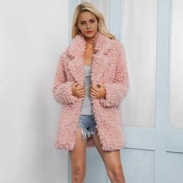 más el chaleco de la piel del zorro del tamaño Rebajas Pink 2018 Moda Faux Fur Coat Invierno Mujeres Casual Faux Fox Fur Chaleco Chaqueta de Invierno Mujeres Más Tamaño Casaco Feminino 3XL