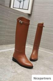 Argentina duping520 cuero de vaca botas largas 307611 marrón de las mujeres bota de montar botas de lluvia BOTINES ZAPATOS tacones altos zapatos de vestir Lolita BOMBAS Suministro