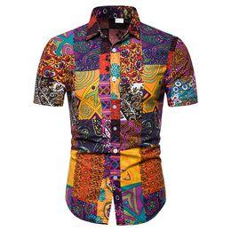 Deutschland Neue Mode Für Männer Floral Shirts Camisa Masculina Kurzarm Hemd Mens Umlegekragen Shirts Dünne Beiläufige Männer Bluse Versorgung