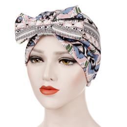929a31be29fd3 Women Bowknot Muslim Ruffle Cancer Chemo Hat Beanie Beading Turban Head  Wrap Cap hats for women winter hat